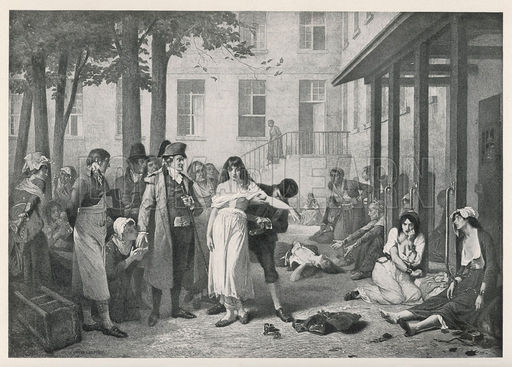 Scene at La Salpetriere in Paris